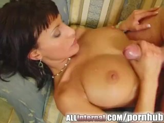 All Internal Three guys cum inside Veronika and pour cum on tits
