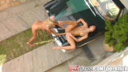 Fist Flush Two lovely ladies nasty fisting surprise