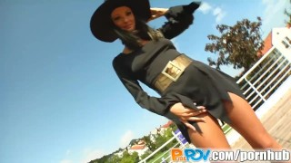 Pure Pov Dressed up witch gets fucked