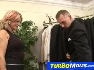 Hungarian grandma Judit has sex with a customer