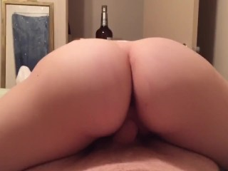 Teen Ashely rides my cock
