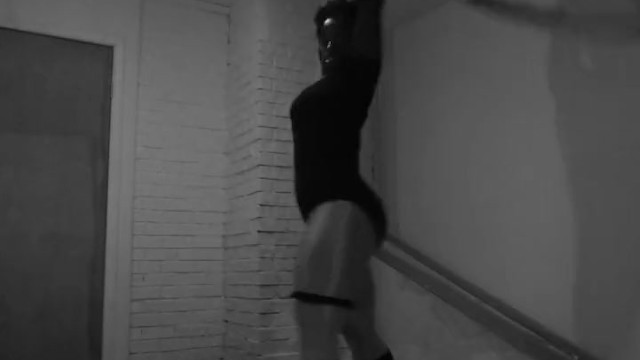 Naked hula hooping clip - Sexy hoop dance workout pantyhose leotard