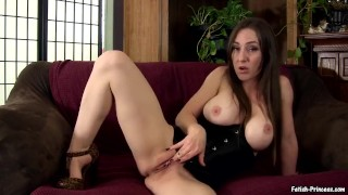 Princess Kristi Smokes in Heels and Rubs Wet Pussy Smoking Fetish