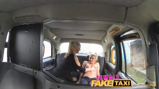 Femalefaketaxi fit bird fingerfucking a girl tits