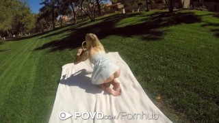 POVD - Teen babe Alex Grey turns a nice picnic into hot pov sex