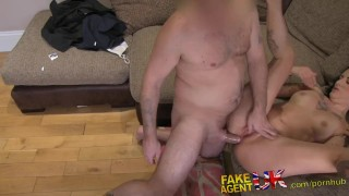 With cock casting rubber fakeagentuk clad anal in mouth