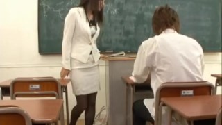 Miho Kanda bonked at school  black stockings hairy pussy classroom busty vibrator alljapanesepass fingering uniform hot blowjob pussy stimulation riding cock dildo in pussy cum in mouth