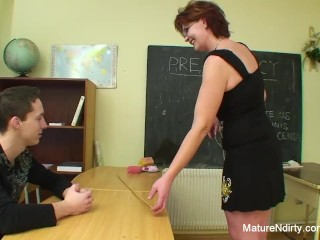 Preview 2 of Student fucks his much older teacher