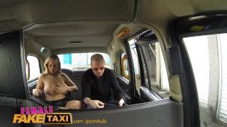 FemaleFakeTaxi Runaway passenger restrained by dominant blonde driver porno
