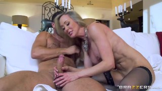 Hot milf Brandi Love gets some young cock Brazzers