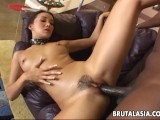 Black man has a sizzling hot bitch to fuck around with