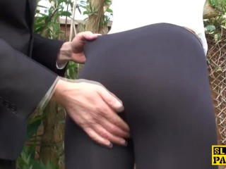 Preview 4 of Alternative brit submissive facialized before being drenched