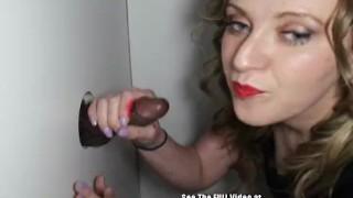 Dingy Blonde Sucks and Fucks Glory Hole Cock!