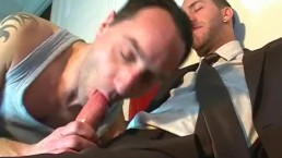 Full video: A nice innocent vendor serviced his big cock by a guy