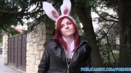 PublicAgent Hot Easter Bunny Girl Fucked Outside
