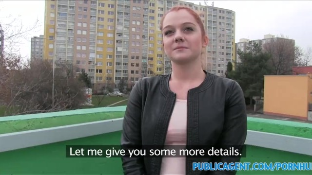Gullible girl sex movies Publicagent gullible ginger fucked over a car