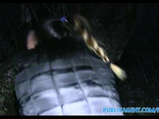 PublicAgent Perfect body double gets spunked on