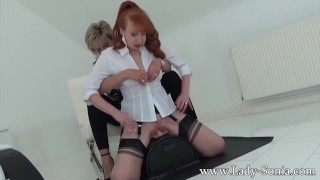Preview 1 of MILFs Lady Sonia and Red XXX in hot Lesbian sybian masturbation