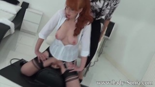 Preview 2 of MILFs Lady Sonia and Red XXX in hot Lesbian sybian masturbation