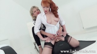 - Milfs Lady Sonia And Red XXX In Hot Lesbian Sybian Masturbation