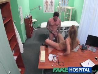 Nurse fucked the man hard.