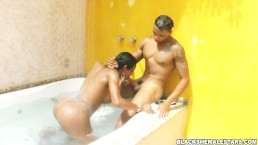 Ebony shemale with monster tranny cock