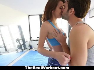 TheRealWorkout – Busty Teen Stretched Out By Dad's Friend