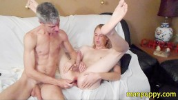 Hippie Twink gets Tickling, Foot Worship, Vibrator Cum from DILF - Manpuppy