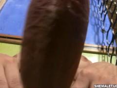 Walkiria Drumond masturbation off big cock in Blonde with big Tool