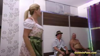 stepmom gets fisted at the gangbang orgy porno