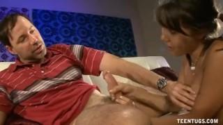 A Cute Asian Teen Jacks Off A Mature Guy's Cock Oral gloryhole