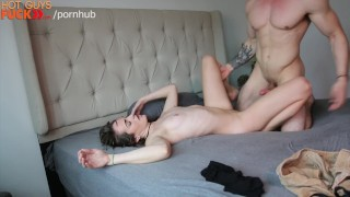 Muscle stud she's on this the loving cock brunette small