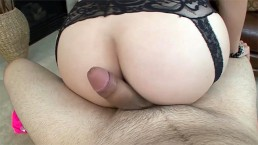 Jade Couture is quite a slut, she sucks sloppy cock and gets a big facial