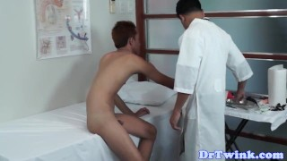 Asian twinks ass filled with enema