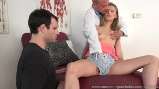 Real of husband janson gets man in jillian fucked by front threesome cock