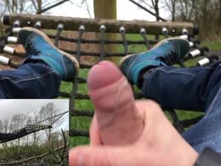 A short but horny public video