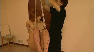 Swing on babe waxed hanging gets a asian natural pigtails