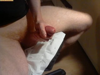 Irish Redhead Monster cock spews cum twice