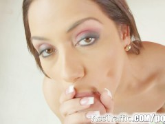 Ass traffic nomi melone swallows huge jizz load after ass fucking
