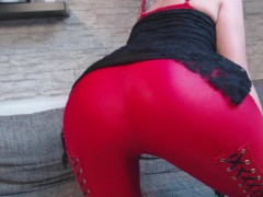 NEUES VIDEO!! ROTE LEDER LEGGING!!!