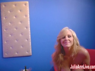 Hua Hai Aaj Pehli Baar Sexy Milf Julia Ann In Strip Tease & Solo! Big Tits Masturbation