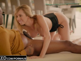 BLACKED Brett Rossi scared from her ex Big Black Boss protects her