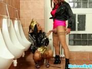 Ebony pornstar Isabella Chrystin in piss fun