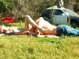 HD TEEN SUNBATHING SPY CAM PUBLIC ORAL SEX WITH BF ORGASM WITH SQUIRTING