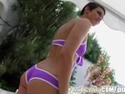 Ass Traffic Love juice shot all over Eliska's ass cheeks