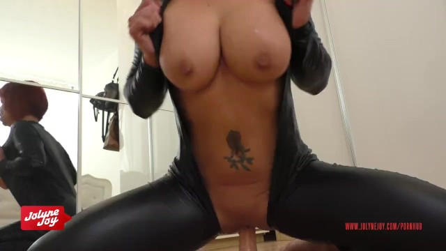 German Redhead JolyneJoy played so dirty in a Catsuit
