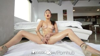 Exotic4K - Asian babe, Lea Hart, sucks and fucks her man big cock hardcore teasing asian exotic4k blowjob fingering shaved natural tits hd oiled lea hart facial pussy licking