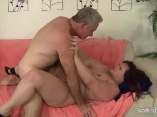 Redhead plumper Marci Diamond hardcore sex
