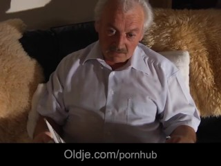 Nasty iwia gives grandpa a sex time to remember