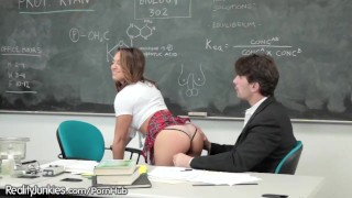 Sara Luvv Spanked and Plowed by Teacher